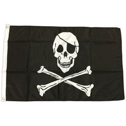 Pirate - 1.52m x 0.91m (5ftx 3ft) Budget Display Flag