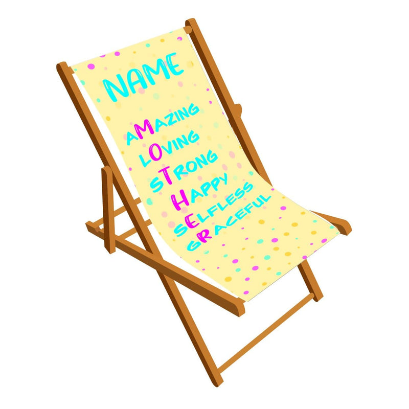 Mother design personalised Deckchair
