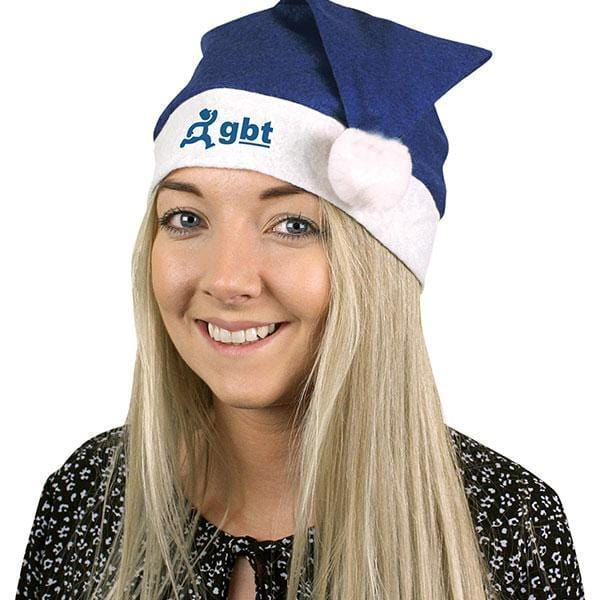 Personalised Blue Santa Hat