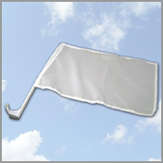 Plain White Car Flag (Pack of 12)