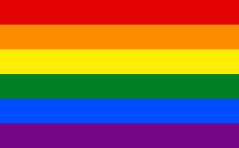 Rainbow, LGBTQ+, Pride 1.52m x 0.91m (5ftx 3ft) Budget Display Flag