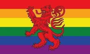 Rainbow Lion Rampant (Gay Pride) Scotland