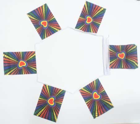 6m 20 flag Rainbow Love (gay pride) bunting