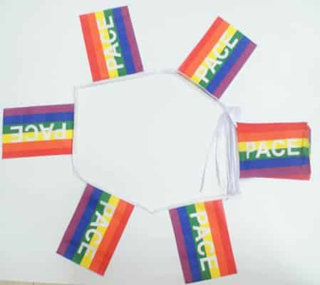 6m 20 flag Rainbow PACE (peace) (gay pride) bunting