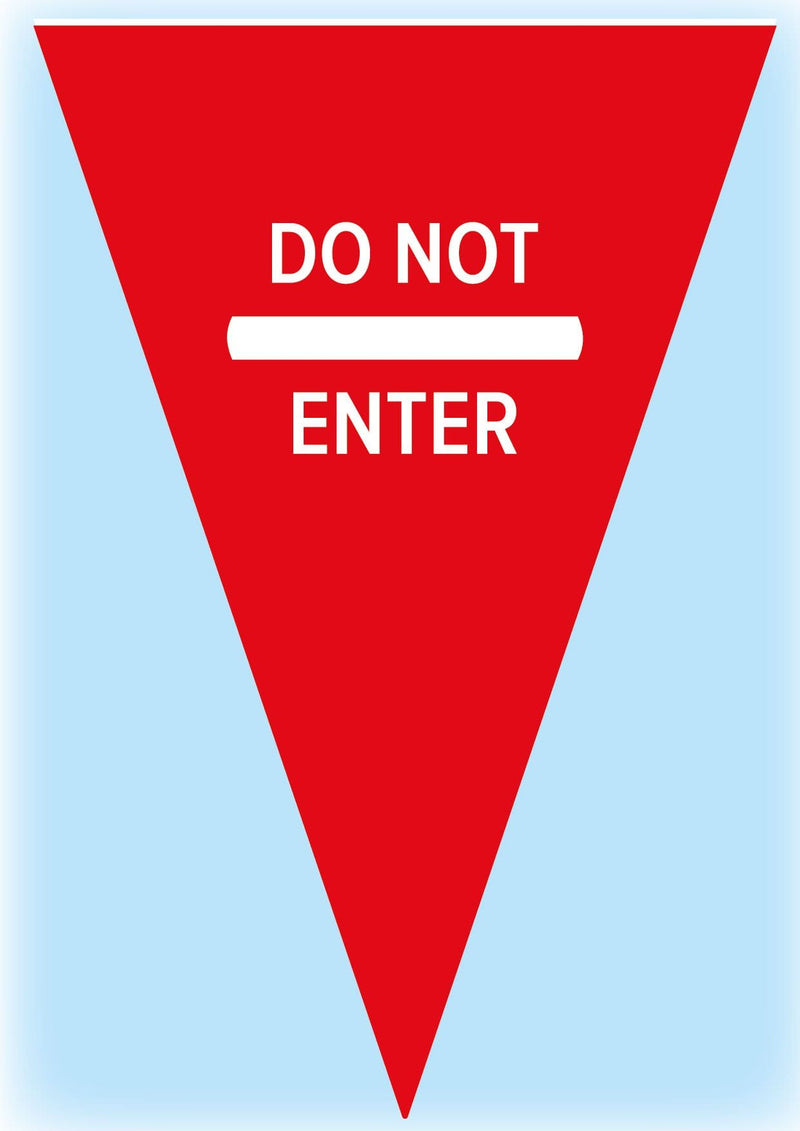 Red safety bunting 2