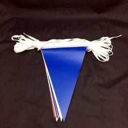 Red, White & Blue PVC Bunting 10m lengths