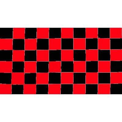 Red & Black Checkered 1.52m x 0.91m (5ftx 3ft) Budget Display Flag