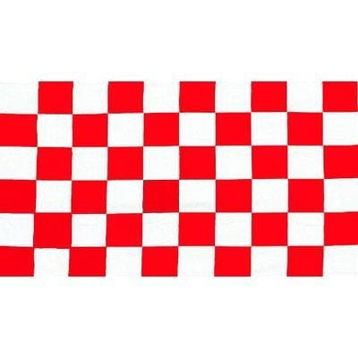 Red & White Checkered 1.52m x 0.91m (5ftx 3ft) Budget Display Flag