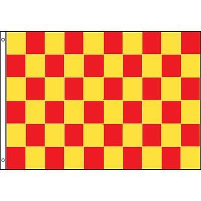 Red & Yellow Checkered 1.52m x 0.91m (5ftx 3ft) Budget Display Flag