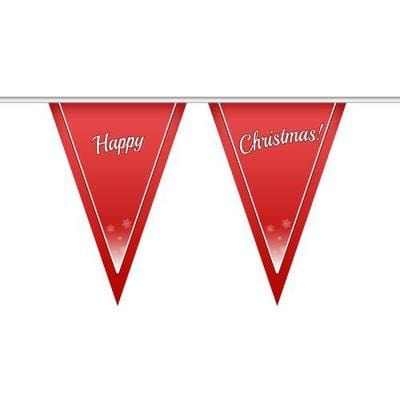 Red Happy Christmas Bunting