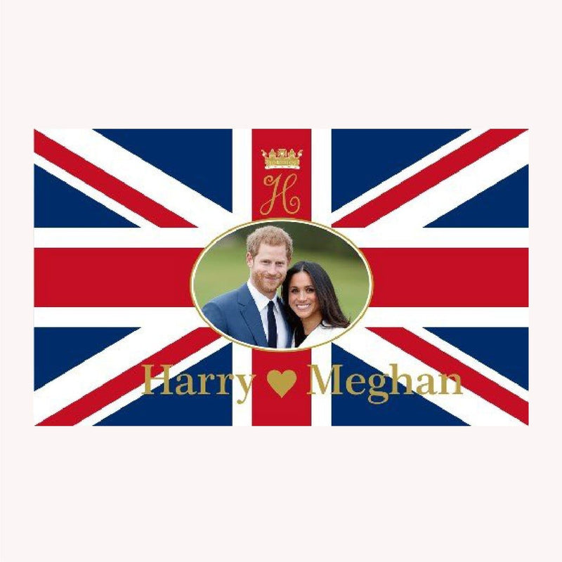 Prince Harry & Meghan Markle - 5ft x 3ft Flag