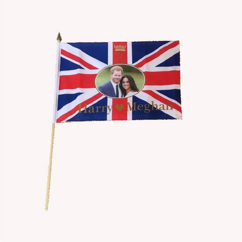 Harry & Meghan Markle Royal Wedding Handwaving Flags - Pack of 12