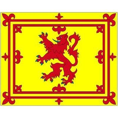Scottish Lion Table Flag