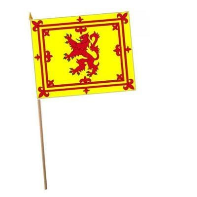 Scottish Lion Fabric Hand Waving Flags