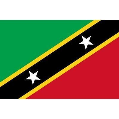 St. Kitts & Nevis/St. Christopher1.52m x 0.91m (5ftx 3ft) Budget Display Flag