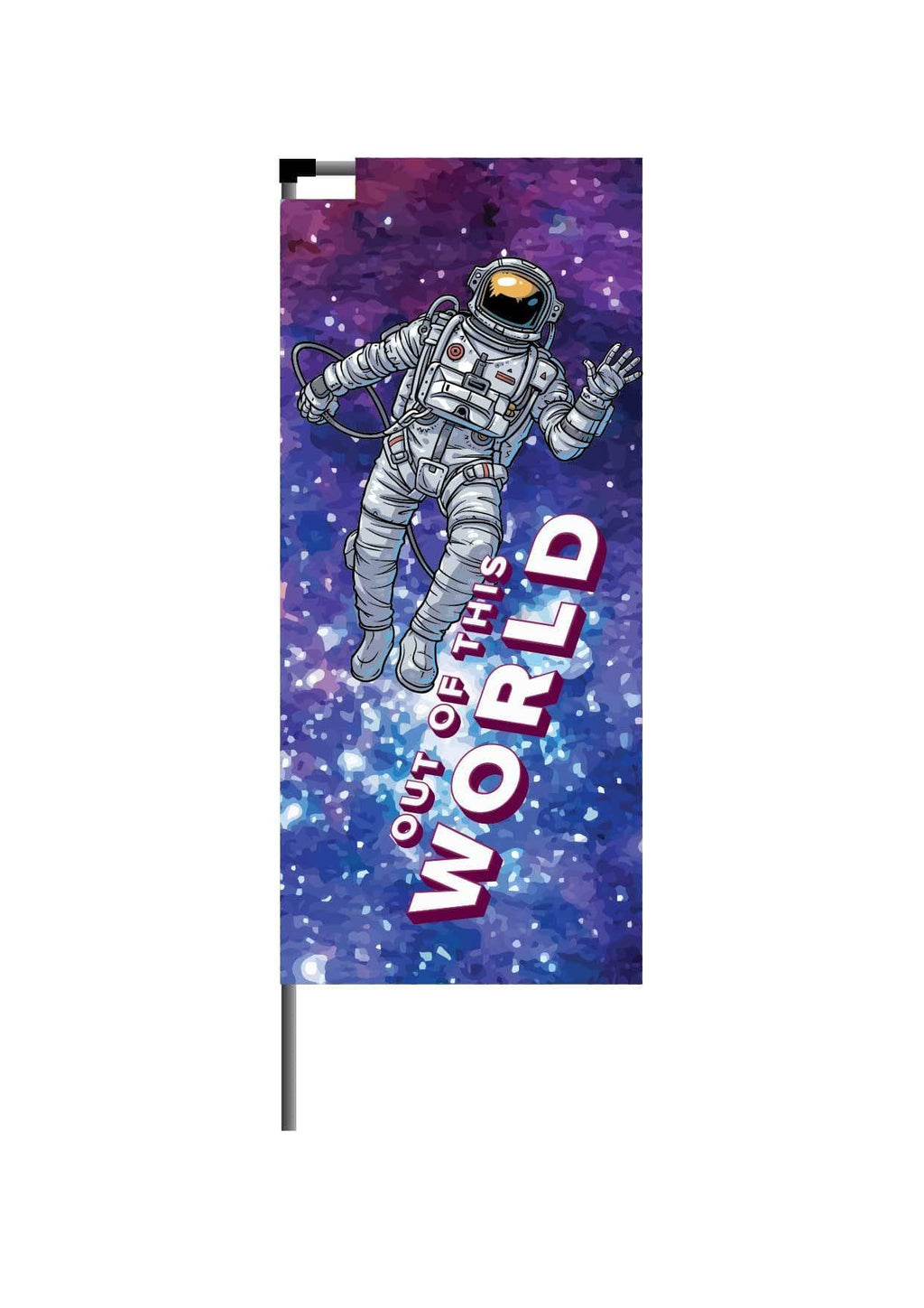 Small Banner flag with Spike base - 2.7 metres high