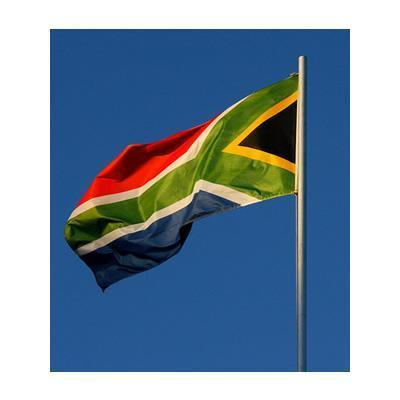 Printed South Africa Flag 1.5yrd (136cm x 68cm)
