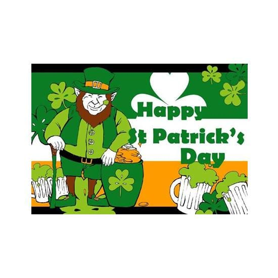 St Patricks Day Leprechaun Flag - 5ft x 3ft
