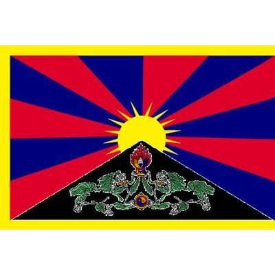 Tibet 1.52m x 0.91m (5ftx 3ft) Budget Display Flag