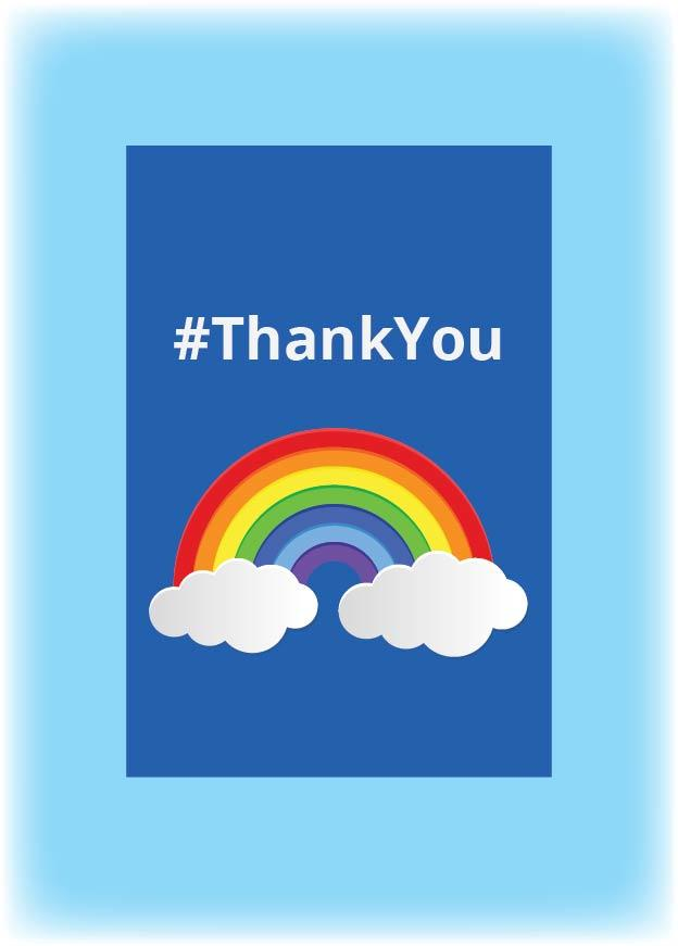 "Rainbow ""Thank You"" Bunting for the Garden"