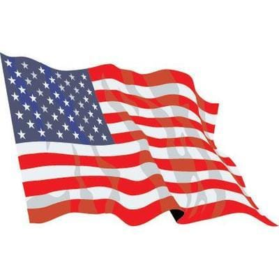 USA Fabric Hand Waving Flags