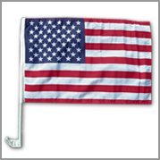 USA car flag (Pack of 12)