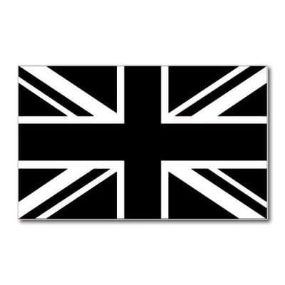 Union Jack Black Flag 5ft x 3ft flag