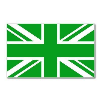 Union Jack Green Flag 5ft x 3ft flag