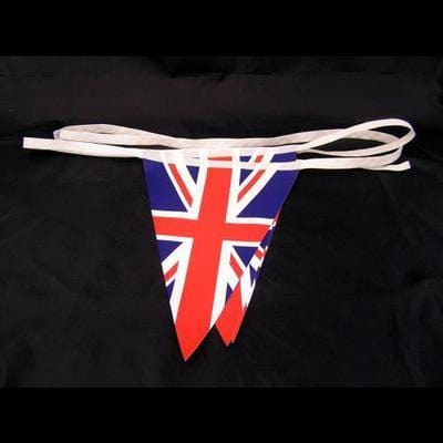 Union Jack PVC triangular bunting