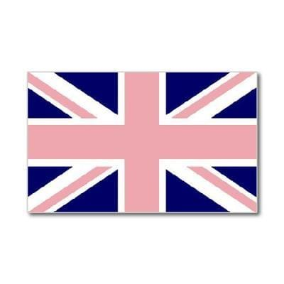 Union Jack Pink/Blue Flag 5ft x 3ft flag
