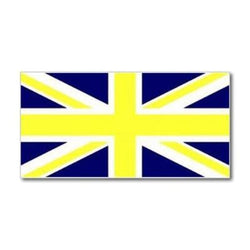Union Jack Yellow & Blue Flag 5ft x 3ft flag