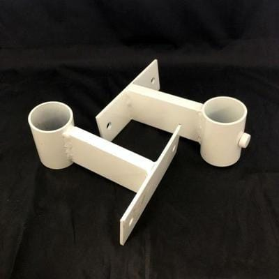 Vertical brackets for 60mm flagpole - 2 piece