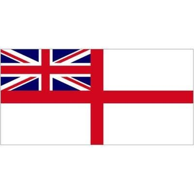 White Ensign 1.52m x 0.91m (5ftx 3ft) Budget Display Flag