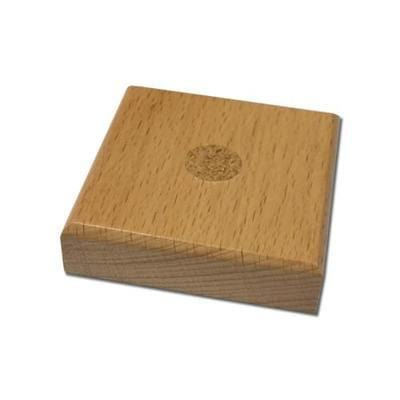 Wooden square base for Table flags