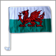 Wales car flag (Pack of 12)