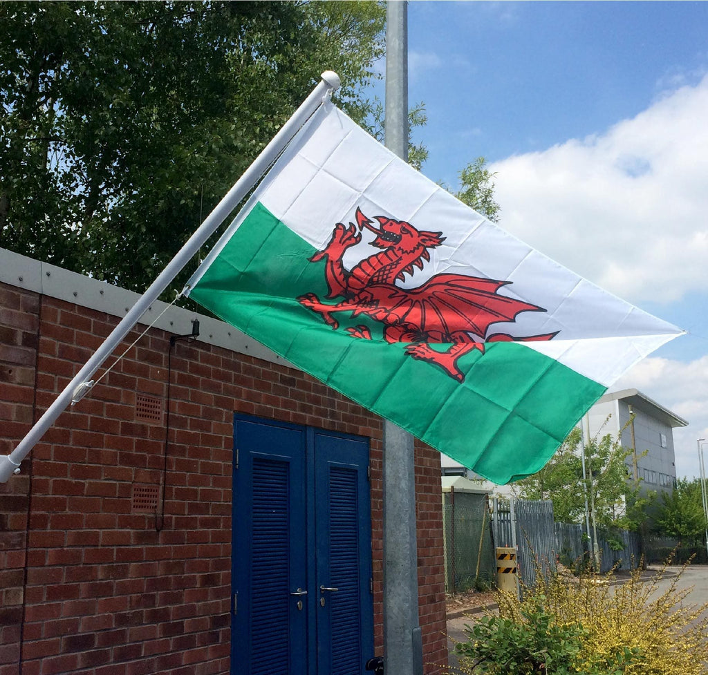 Printed Polyester Wales Flag 2.5 yrd