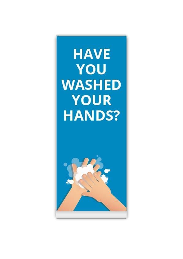 Wash your hands Roller Banner