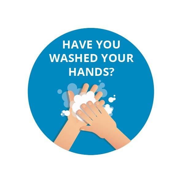Wash your hands 37mm stickers