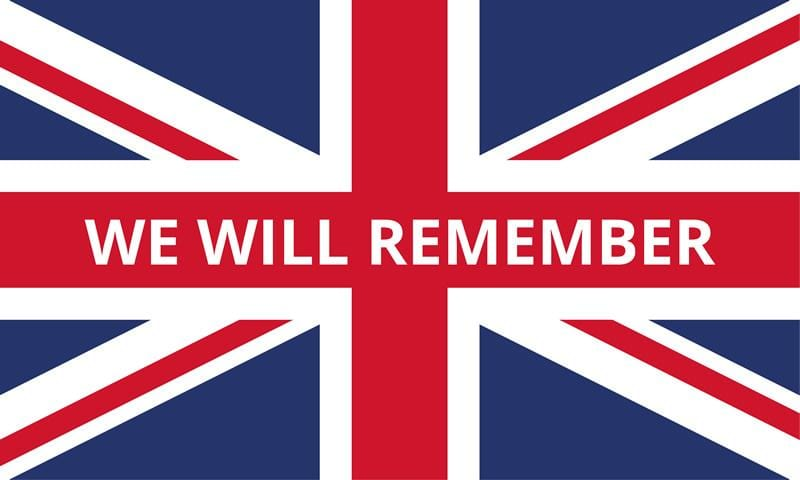 Union We Will Remember Flag 1500 x 900mm (5ft x 3ft)