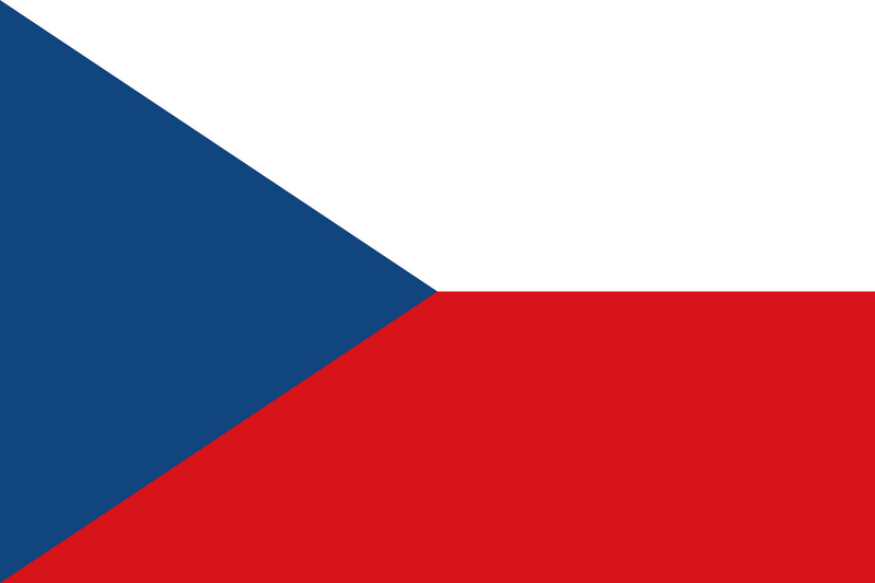 Czech Republic 1.5yd (137cm x 68cm) Sewn Woven Flag with Rope & Toggle