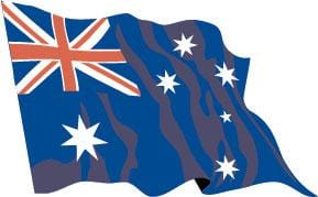 Australia Budget Display Flag 91cm x 60cm (3ft x 2ft)