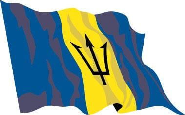 Barbados Budget Display Flag 91cm x 60cm (3ft x 2ft)