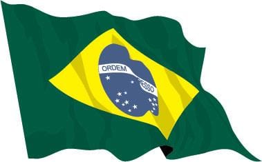 Brazil Budget Display Flag 91cm x 60cm (3ft x 2ft)