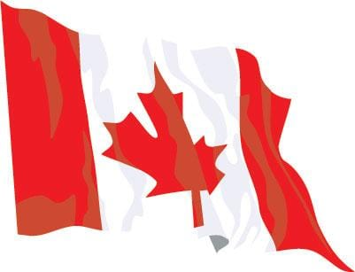 Canada Budget Display Flag 91cm x 60cm (3ft x 2ft)