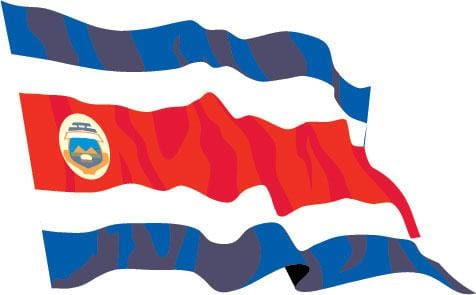 Costa Rica Budget Display Flag 91cm x 60cm (3ft x 2ft)