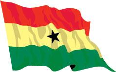 Ghana 91cm x 60cm (3ftx 2ft) Budget Display Flag