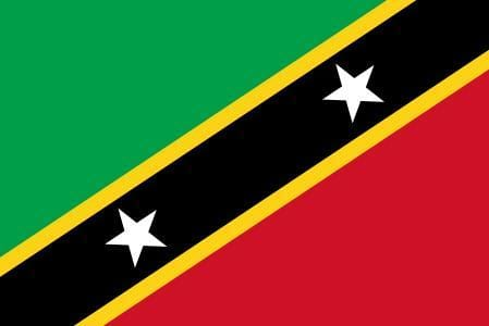 St Kitts and Nevis Budget Display Flag 91cm x 60cm (3ft x 2ft)