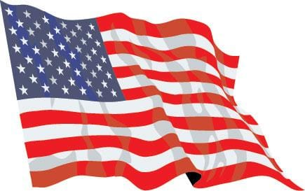 USA budget display flag 3ft x 2ft (91cm x 60cm)