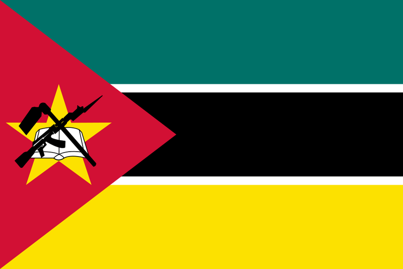 Mozambique Table Flag