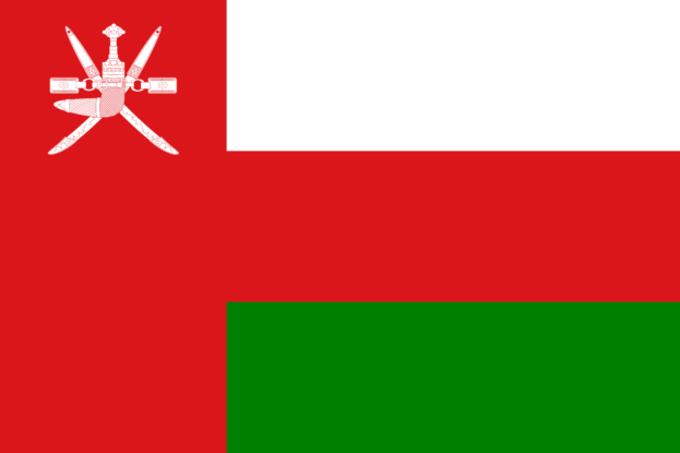 Printed Oman Flags